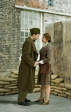 CollaborationJS WW2 COUPLE SAYING GOODBYE Couples