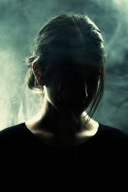 Magdalena Russocka sad teenage girl in smoky room Children