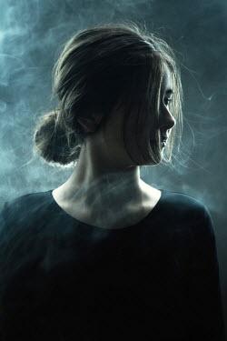 Magdalena Russocka teenage girl in smoky room Children