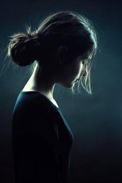 Magdalena Russocka sad teenage girl looking down Children