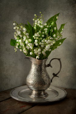 Jaroslaw Blaminsky FLOWERS IN OLD SILVER JUG Flowers