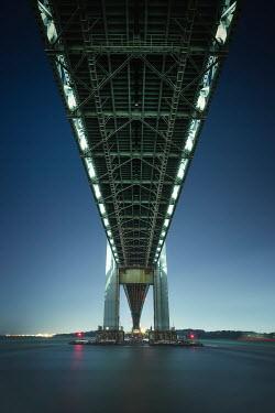 Evelina Kremsdorf MODERN BRIDGE OVER WATER FROM BELOW Bridges