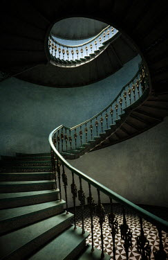 Jaroslaw Blaminsky spiralling staircase and tiled floor Interiors/Rooms