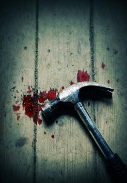 Lyn Randle Hammer by blood splatters on floor Weapons