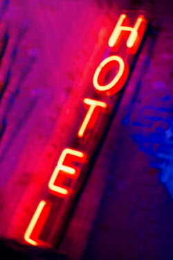 Holly Leedham Fluorescent lit hotel sign Miscellaneous Objects