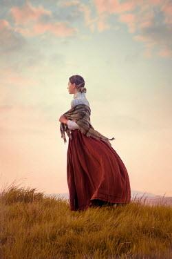 Lee Avison victorian woman stood on hill Women