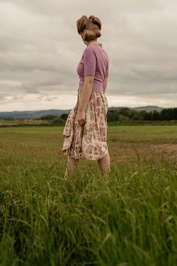 Shelley Richmond Retro woman in grassy field Women