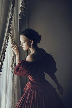 Dorota Gorecka Historical woman looking out window Women