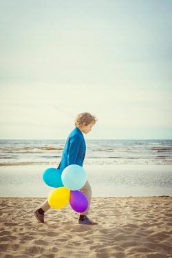 Katya Evdokimova BOY WITH BALLOONS ON SANDY BEACH Children