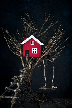 Kelly Sillaste MINIATURE HOUSE IN TREE WITH SWING Miscellaneous Objects