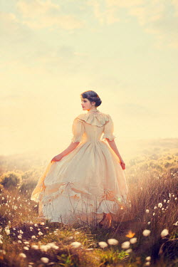 Lee Avison beautiful victorian woman on the moors
