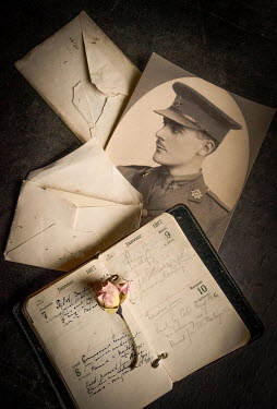 Jane Morley WARTIME PHOTOGRAPH DIARY AND LETTERS WITH ROSE Flowers