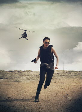 Mark Owen HELICOPTER CHASING WOMAN WITH GUN Women