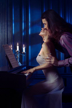 Alex Maxim MAN CARESSING WOMAN PLAYING THE PIANO Couples