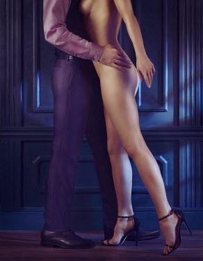 Alex Maxim MAN EMBRACING NAKED WOMAN INDOORS AT NIGHT Couples