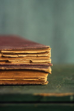 Mohamad Itani CLOSE UP OF OLD BROWN BOOKS Miscellaneous Objects
