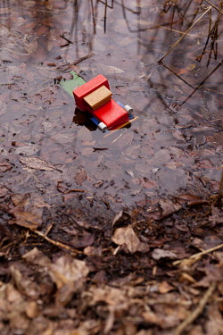 Kerstin Marinov TOY TRUCK IN WATER IN AUTUMN COUNTRYSIDE Miscellaneous Objects