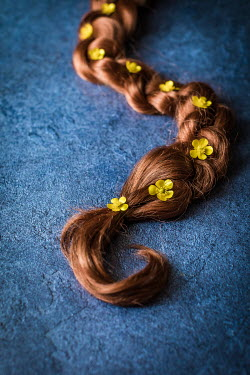 Des Panteva PLAIT COVERED WITH YELLOW FLOWERS Flowers