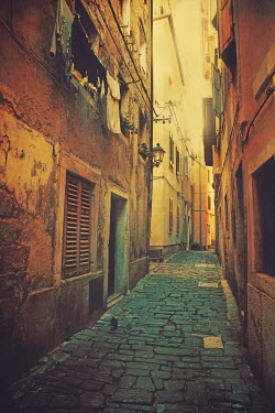 Irene Lamprakou Narrow town street and buildings Streets/Alleys