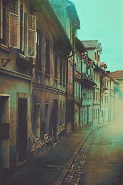 Irene Lamprakou Row of houses on street Streets/Alleys