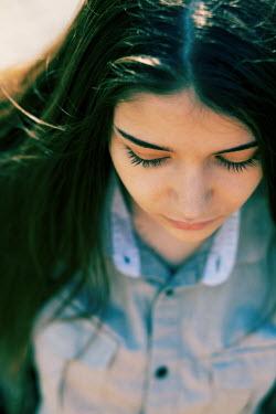 Kerstin Marinov Close up of girl in shirt Women