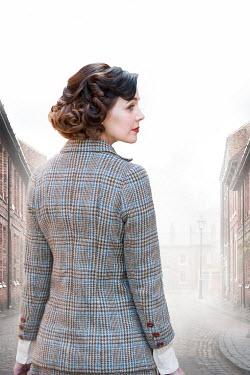 Lee Avison 1940s woman in tweed jacket Women