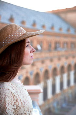 Chris Reeve WOMAN IN HAT NEAR HISTORICAL BUILDING Women