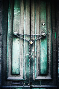 Irene Lamprakou OLD DOORS WITH PADLOCK AND CHAIN Building Detail