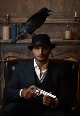 Kirill Sakryukin Gangster with crow on head Couples