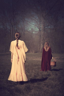 Magdalena Russocka two young women in garden Women