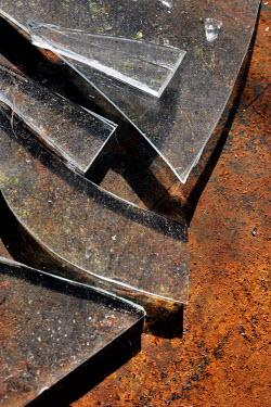 Adrian Muttitt BROKEN GLASS ON RUSTY METAL Miscellaneous Objects