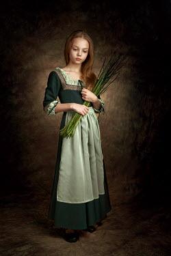 Alexander Vinogradov HISTORICAL GIRL HOLDING PLANT Children