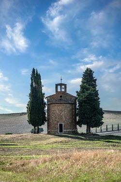 Jaroslaw Blaminsky TUSCAN CHAPEL AND CYPRESS TREES Religious Buildings
