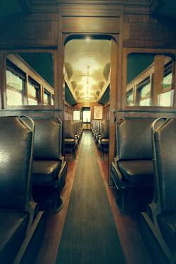 ILINA SIMEONOVA INTERIOR OF RETRO RAILWAY CARRIAGE Railways/Trains