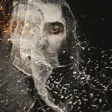 Oana Stoian FEMALE HEAD COVERED WITH NET Women