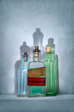 Paul Knight ANTIQUE GLASS BOTTLES OF POISON Miscellaneous Objects