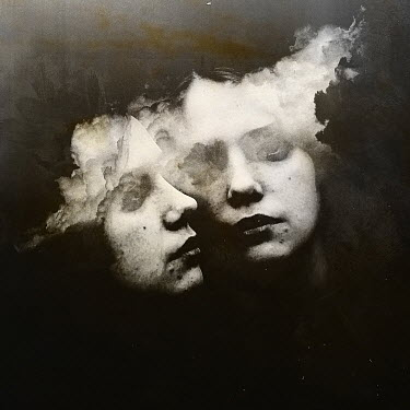 Oana Stoian FACES OF TWINS WITH SURREAL CLOUDS Women