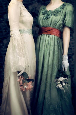 ILINA SIMEONOVA TWO HISTORICAL WOMAN IN DRESSES WITH FLOWERS Women