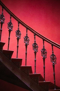 Joanna Czogala CLOSE UP OF ORNATE STAIRCASE Stairs/Steps