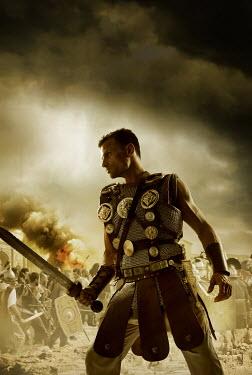 CollaborationJS A roman centurion fighting in a roman city Men
