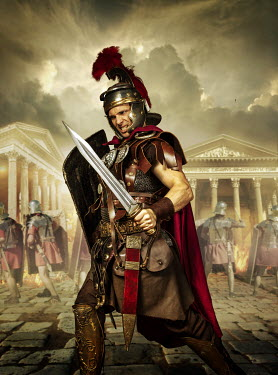 CollaborationJS A roman commander fighting in a roman city Men
