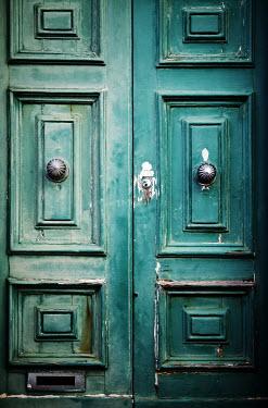 Irene Lamprakou OLD GREEN WOODEN DOOR Building Detail
