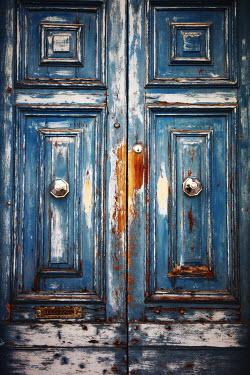 Irene Lamprakou OLD BLUE WOODEN DOORS Building Detail