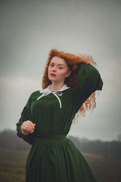 Joanna Czogala Red haired girl in countryside Women
