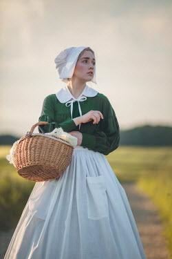 Joanna Czogala 19th Century Maid stood in field Women