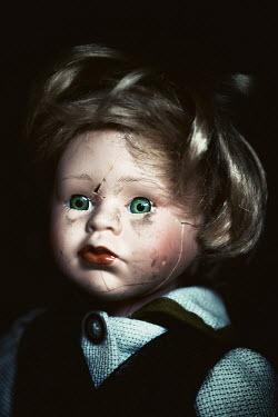 Svetoslava Madarova close up of cracked face of retro doll