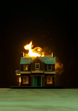 Stephen Mulcahey A model house on fire Miscellaneous Objects
