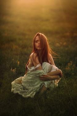 Terrence Drysdale Woman sat on grassy floor Women