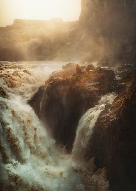 Terrence Drysdale Person stood above flowing waterfall Miscellaneous Water