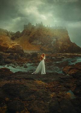 Terrence Drysdale Woman in dress by misty waters Women